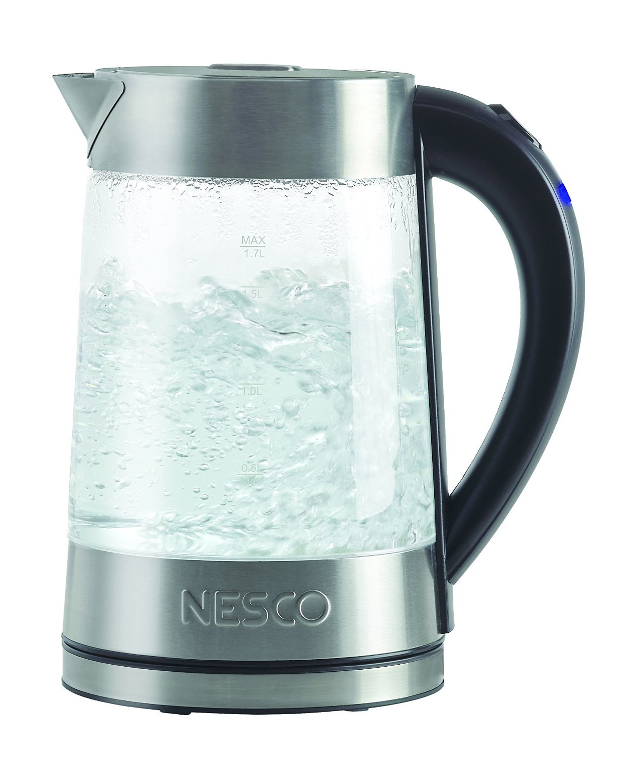 Nesco GWK-02 Electric Glass Water Kettle, 1.8-Quart