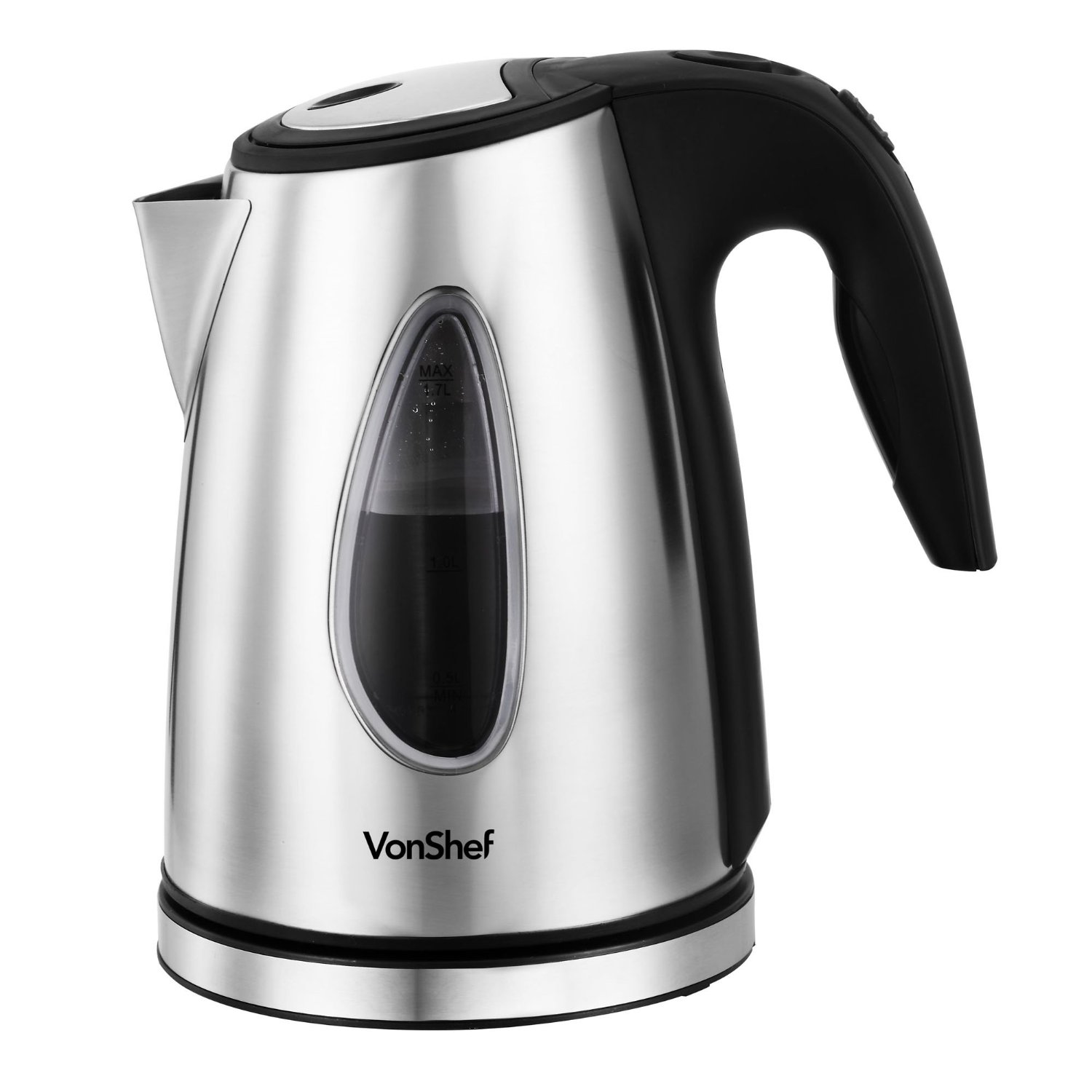 VonShef 1500 Watt Stainless Steel Cordless Kettle
