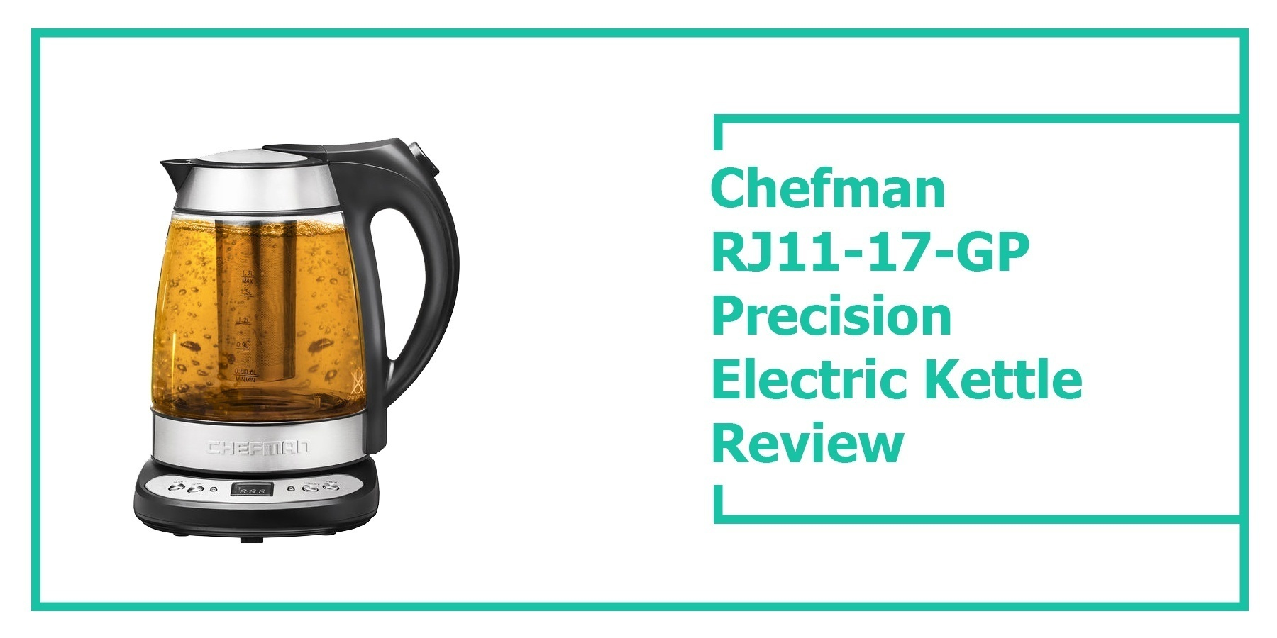 Chefman RJ11-17-GP Precision Electric Kettle Review