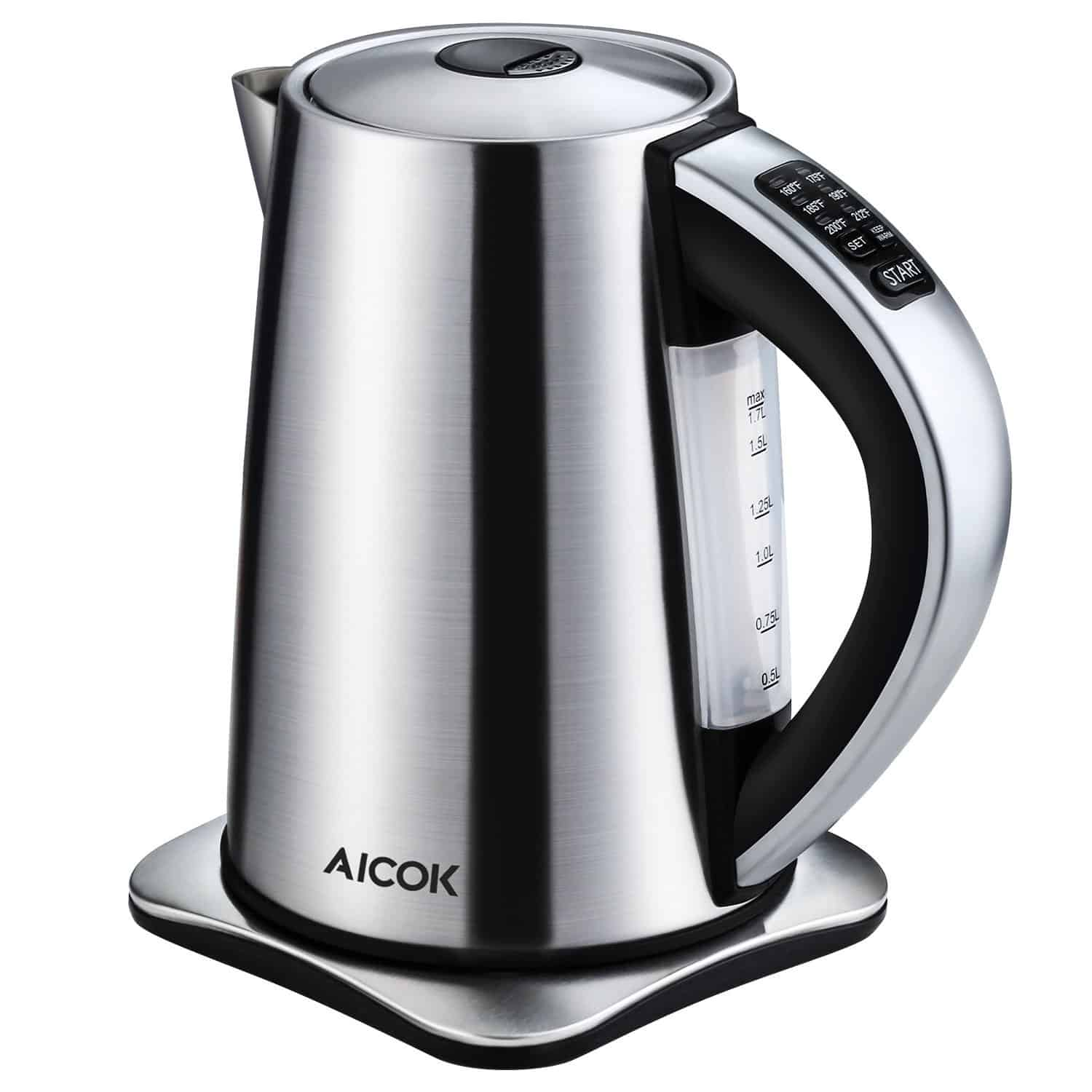 Aicok Electric Kettle Precise Temperature Control Hot Water Kettle Stainless Steel Tea Kettle