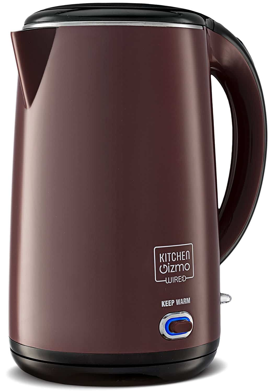 Kitchen Gizmo Stainless Steel Double-Walled Electric Kettle